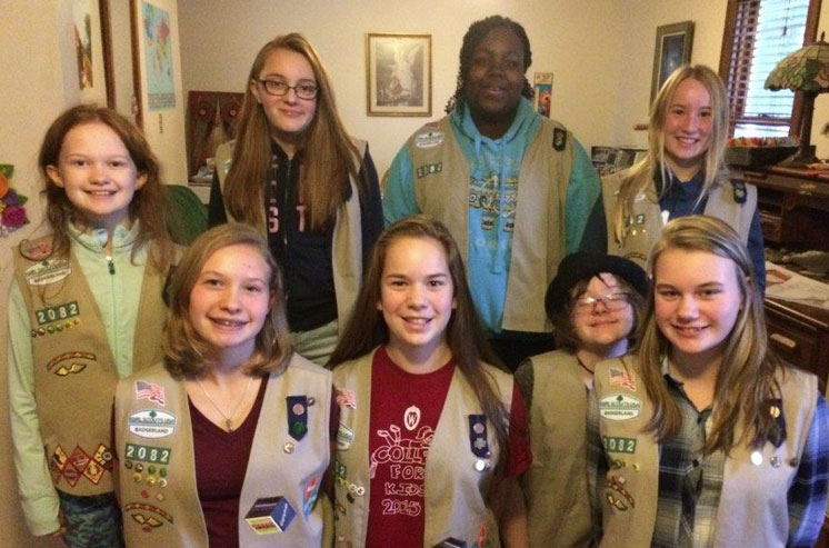 Touching the future – Girl Scouts Book Drive Experience
