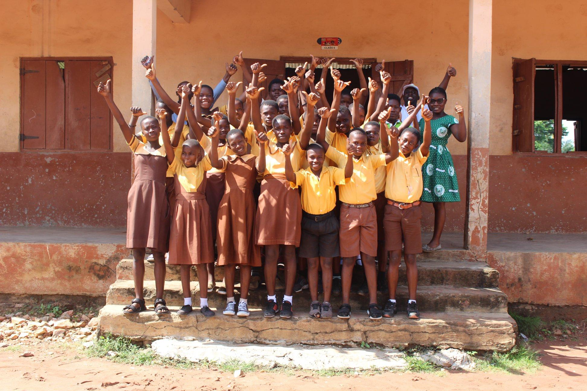 African School cheering