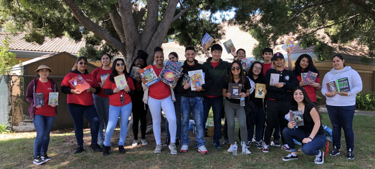 American Children Organizing Bookdrive