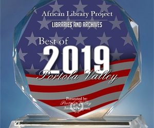 African Library Project Receives 2019 Best of Portola Valley Award