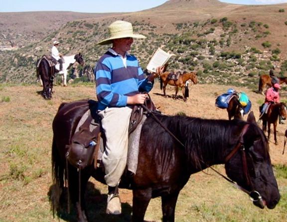 Pony-trekking in Lesotho