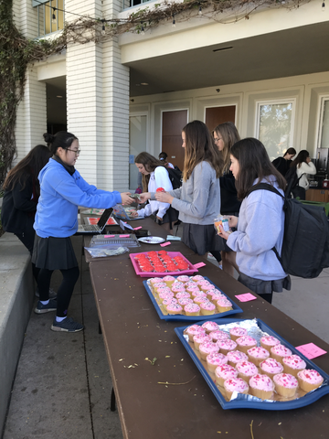 Grace organized a bake sale to help fund her drive.